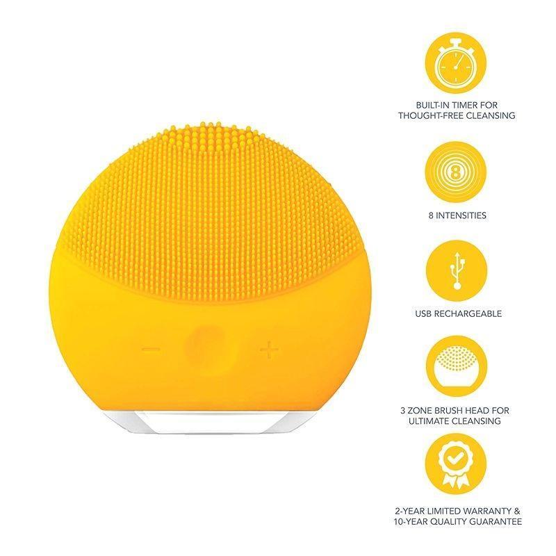 Máy rửa mặt siêu âm Silicon có hộp, điều chỉnh tốc độ (Nhiều màu )