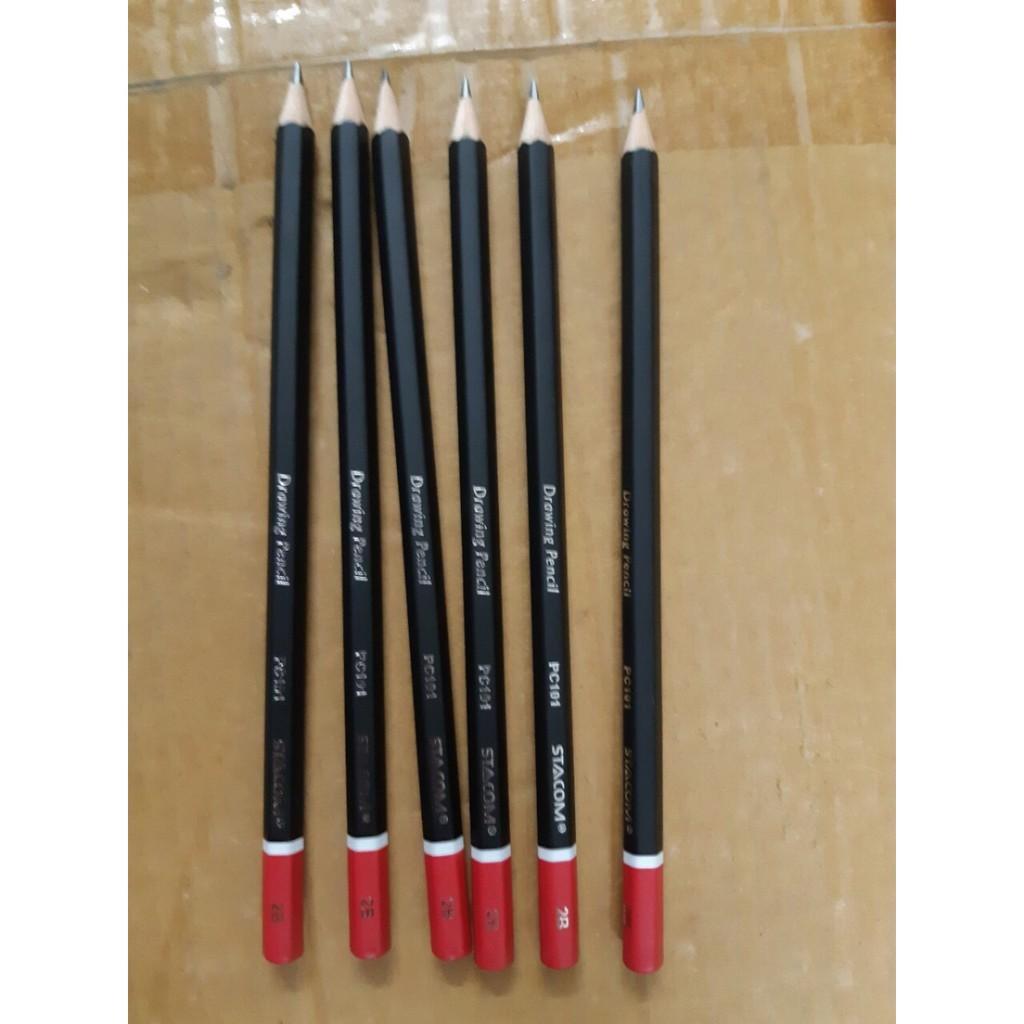 Mua Combo 6 hộp chì 12 màu kèm chuốt+5 túi lưới+ 2 hộp chì pc101 2B