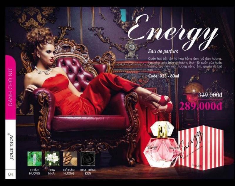 Nước hoa nữ Jolie Dion Energy 60ml