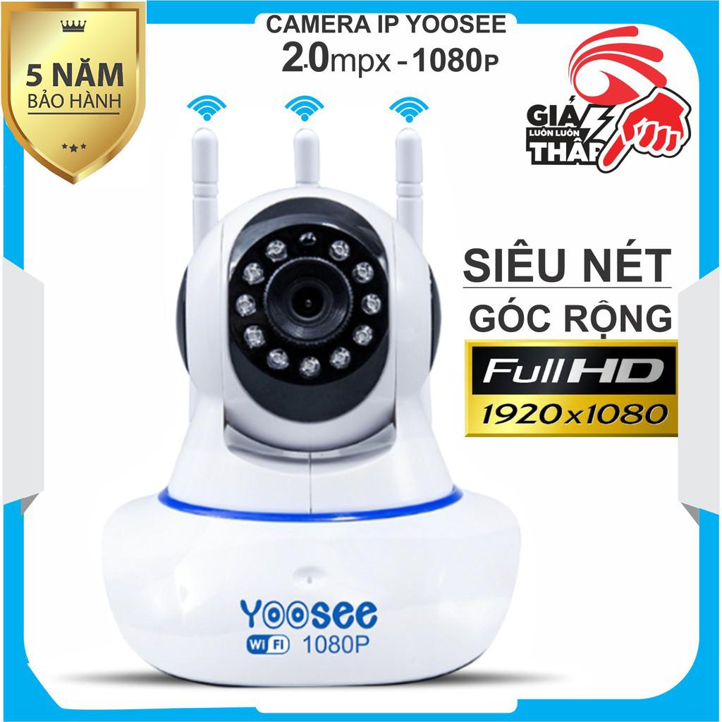 (SALE 50%Bảo hành 5 Năm)Camera WIFI YOOSEE 3 Râu 2.0MP FULLHDxoay 360 độ siêu nét tích hợp cảm biến hồng ngoạicamera WIFI KHÔNG DÂY ghi âmđàm thoại 2 chiều lưu trữ video