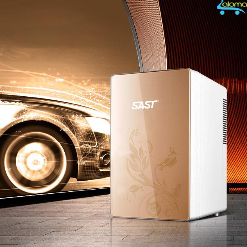 Tủ lạnh hâm nóng16 lít SAST ST16L cao cấp 2 dây nguồn gia đình và ô tô riêng biệt