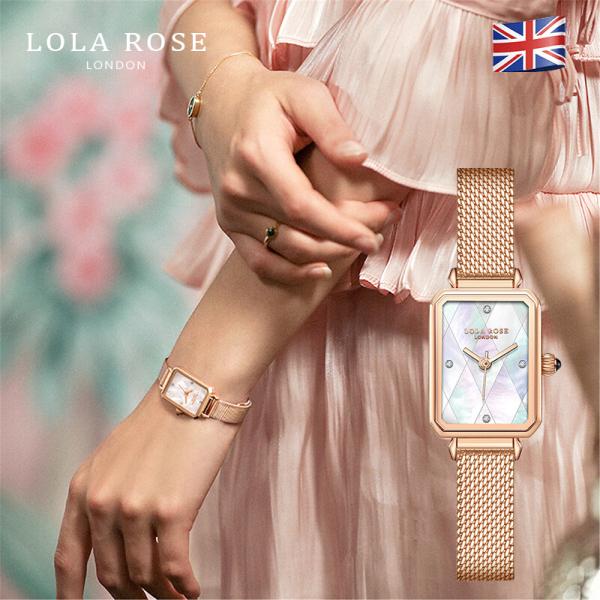 Đồng hồ nữ cá tính, đồng hồ Lolarose thiết kế từ Anh, mặt vuông vỏ ngọc trai cao cấp cùng với dây đeo kim loại sang trọng, phù hợp mang đi dự tiệc bảo hành 2 năm LR4182 bán chạy