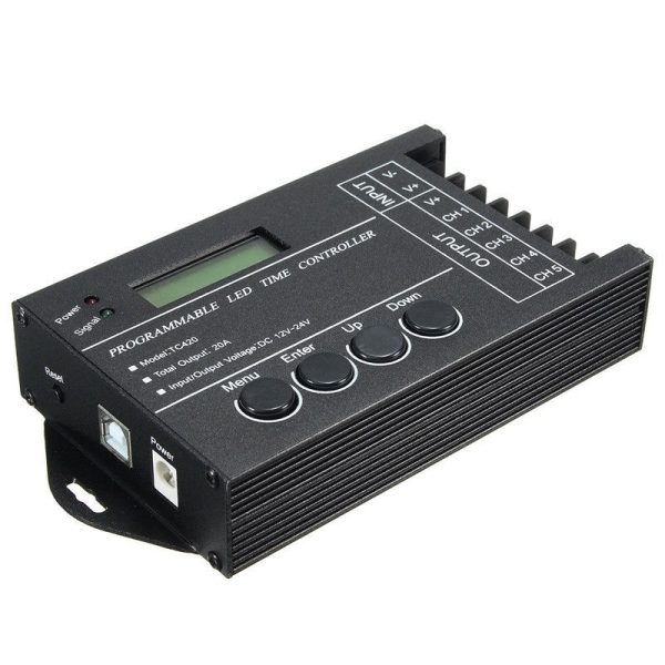 Bảng giá TC420 Time programmable RGB LED Controller DC12V-24V 5 Channel LED Timing dimmer Phong Vũ
