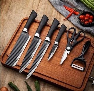 Bộ dao 6 món cao cấp công nghệ Nhật Asakh Đa Năng, bộ dao 6 món quà tặng cao cấp, bộ dao công nghệ Nhật bản, dao thái dao gọt, bộ dao sang trọng lịch sự thumbnail