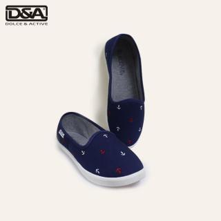 Giày slipon nữ D&A EPL1846 siêu nhẹ hình mỏ neo thumbnail