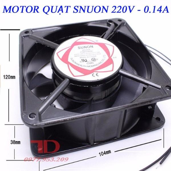 Quạt thông gió, hút mùi, tản nhiệt Mini Sunon 220V 12x12x3,8Cm