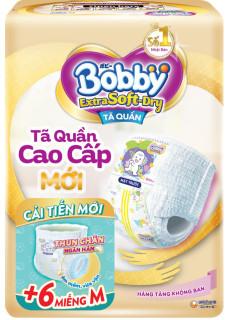 [DEAL SỐC] Tã Bĩm quần Bobby extra soft dry size M ( 6 miếng) 1