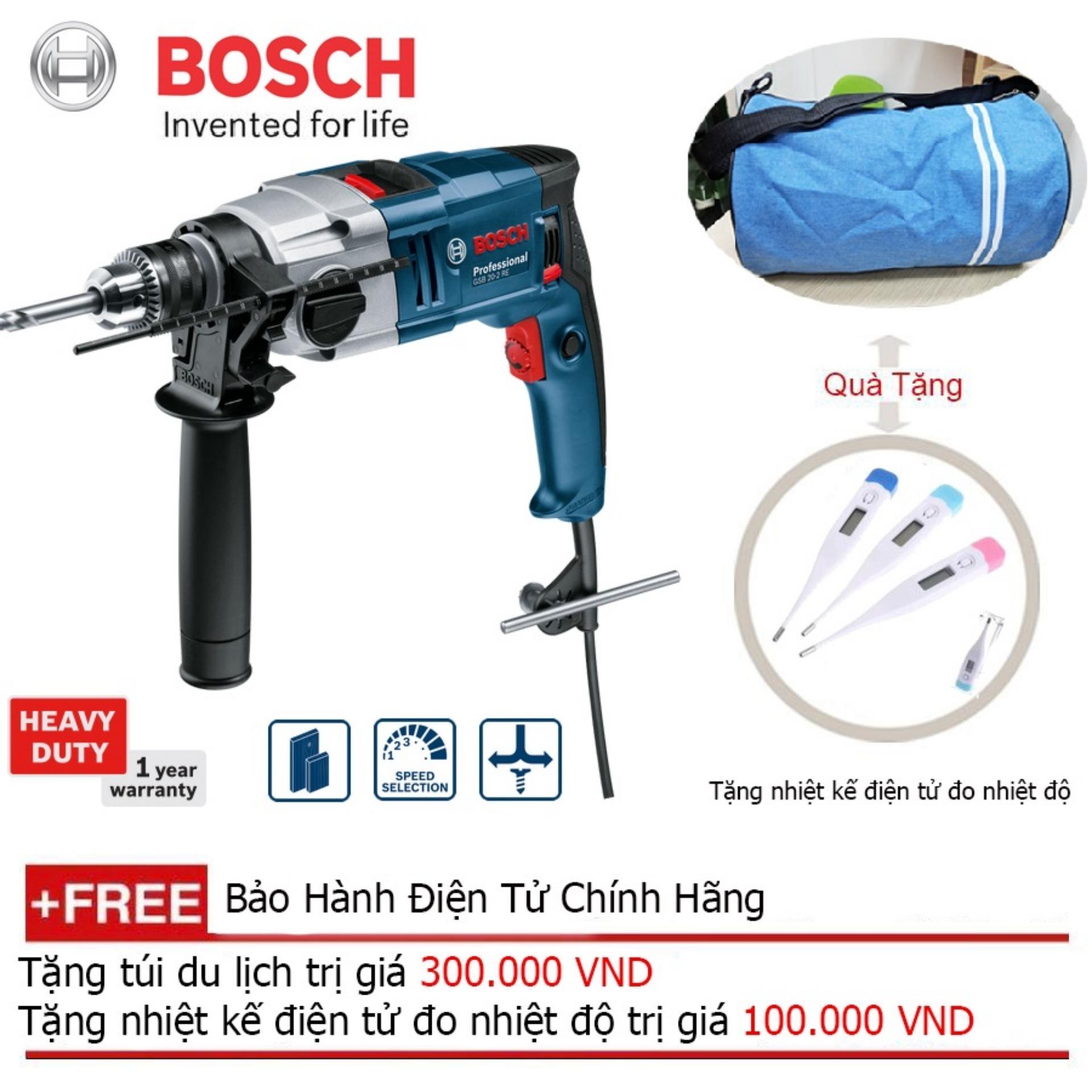 Máy khoan động lực Bosch GSB 20-2 RE+ Quà tặng balo du lịch