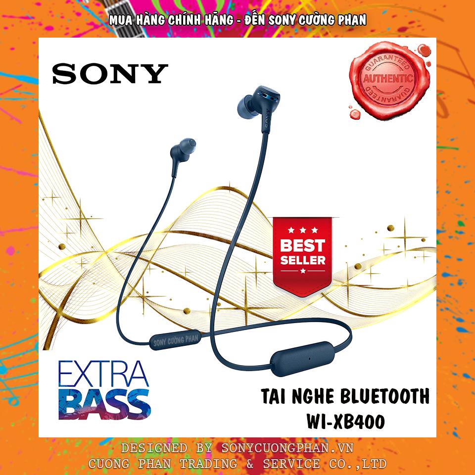 Tai nghe Bluetooth Sony Extra Bass WI-XB400 - Hãng Phân Phối Chính Thức