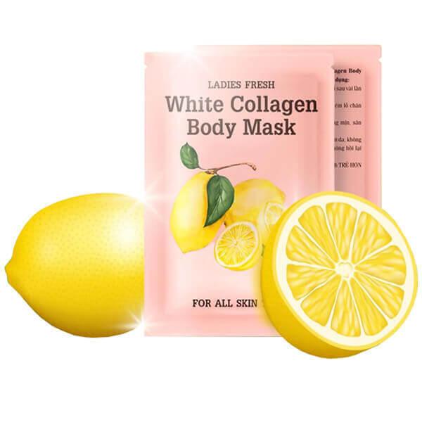 Ủ trắng Chanh White Collagen Body Mask Qlady kích trắng sau 1 lần dùng