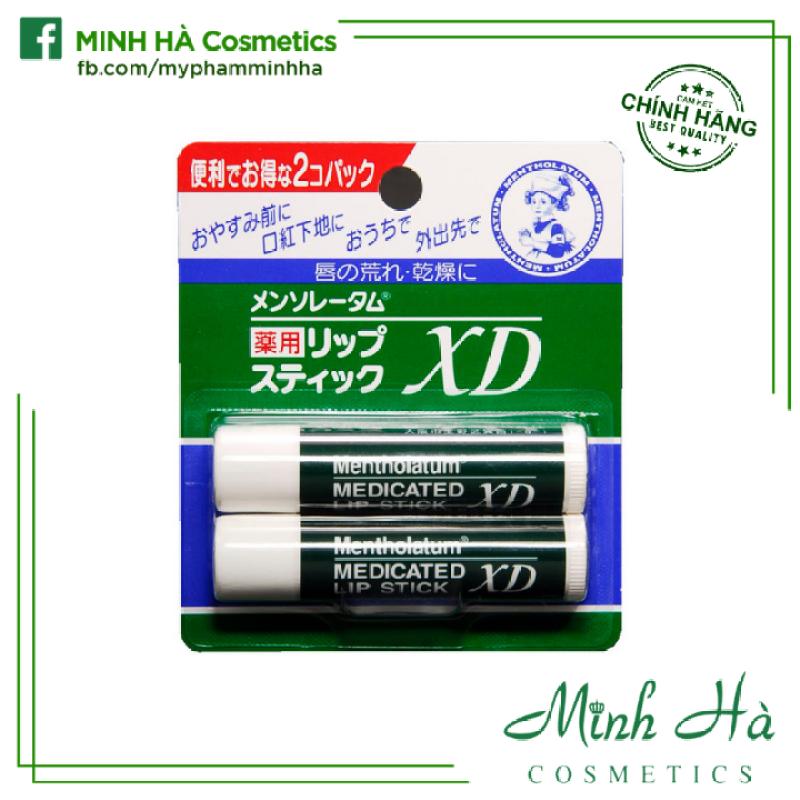 Set 2 cây son dưỡng Mentholatum Medicated Lip Stick XD Nhật Bản