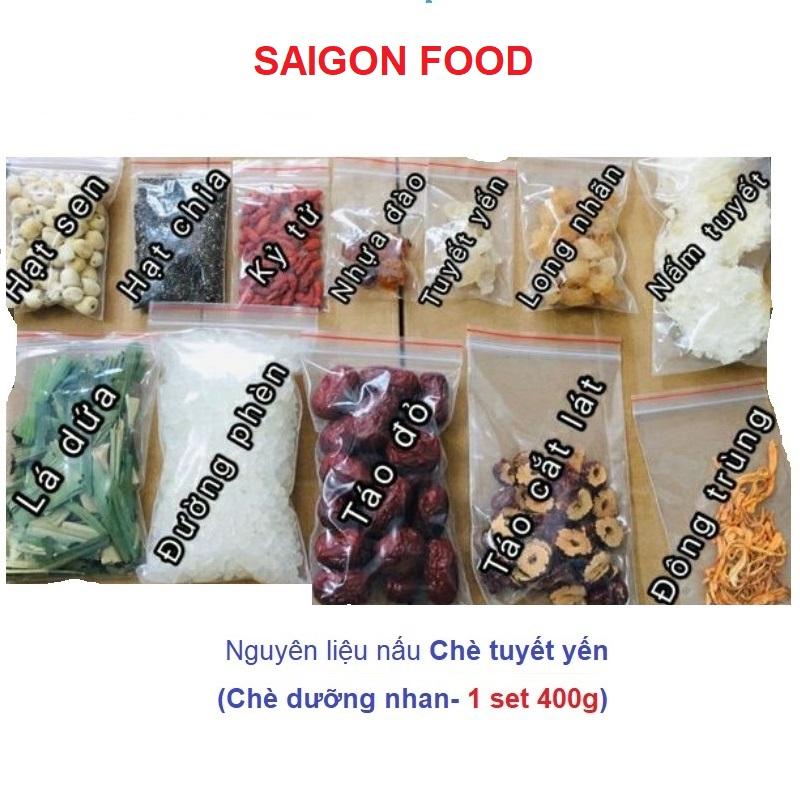 Offer Ưu Đãi COMBO 400gr Nguyên Liệu Nấu Chè DƯỠNG NHAN (CHÈ TUYẾT YẾN ) (11 Vị Như Hình)