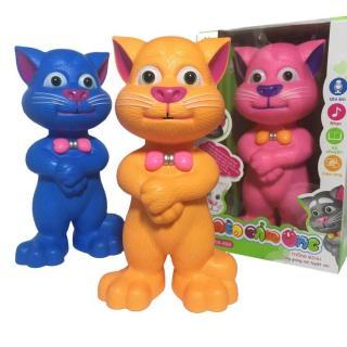 Mèo Tom kể chuyện biết hát thông minh mèo cảm ứng thông minh phát nhạc kể chuyện chú mèo nhại tiếng đáng yêu trò chơi thú cưng biết nói chuyện và hát đồ chơi giải trí đồ chơi phát triển trí thông minh cho bé thumbnail