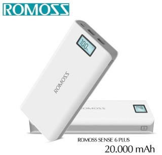 Pin sa c dư pho ng ROMOSS Sense 6 Plus 20000mAh Màn Hình thumbnail
