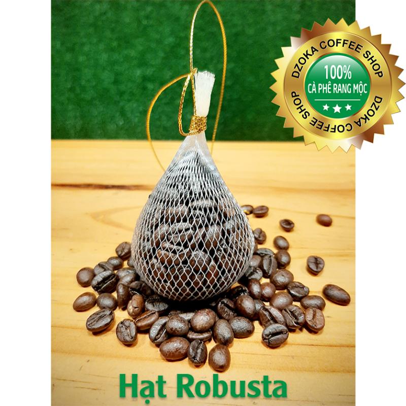 Túi thơm hạt cà phê rang mộc robusta 25gr chuyên hút ẩm, khử mùi và làm thơm xe ô tô, tủ quần áo, bàn làm việc, không gian phòng..