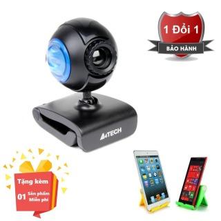 ( Tặng kèm giá đỡ điện thoại hình ghế ) Webcam tích hợp Micro cho máy tính, PC, Laptop A4tech 752F - Webcam học online tại nhà A4tech PK-752F - Webcam online kèm Micro 752F thumbnail