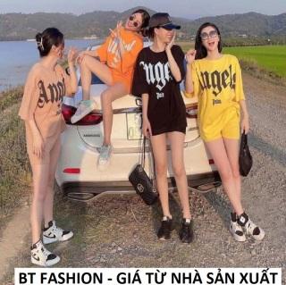 SET Bộ Đi Chơi Áo Thun Phom Rộng + Quần Sọt Thun Thời Trang HOT - BT Fashion (SE03) + Hình Thật Video thumbnail