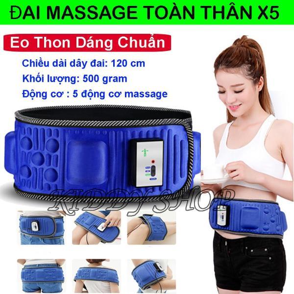 Đai Massage Toàn Thân X5 ,Máy Mát Xa Bụng Nhật Bản Giảm Cân Hiệu Quả, Massage Toàn Thân Đa Chức Năng, Giá Tốt.( Loại cắm Điện ) Bảo Hành 1 Đổi 1.