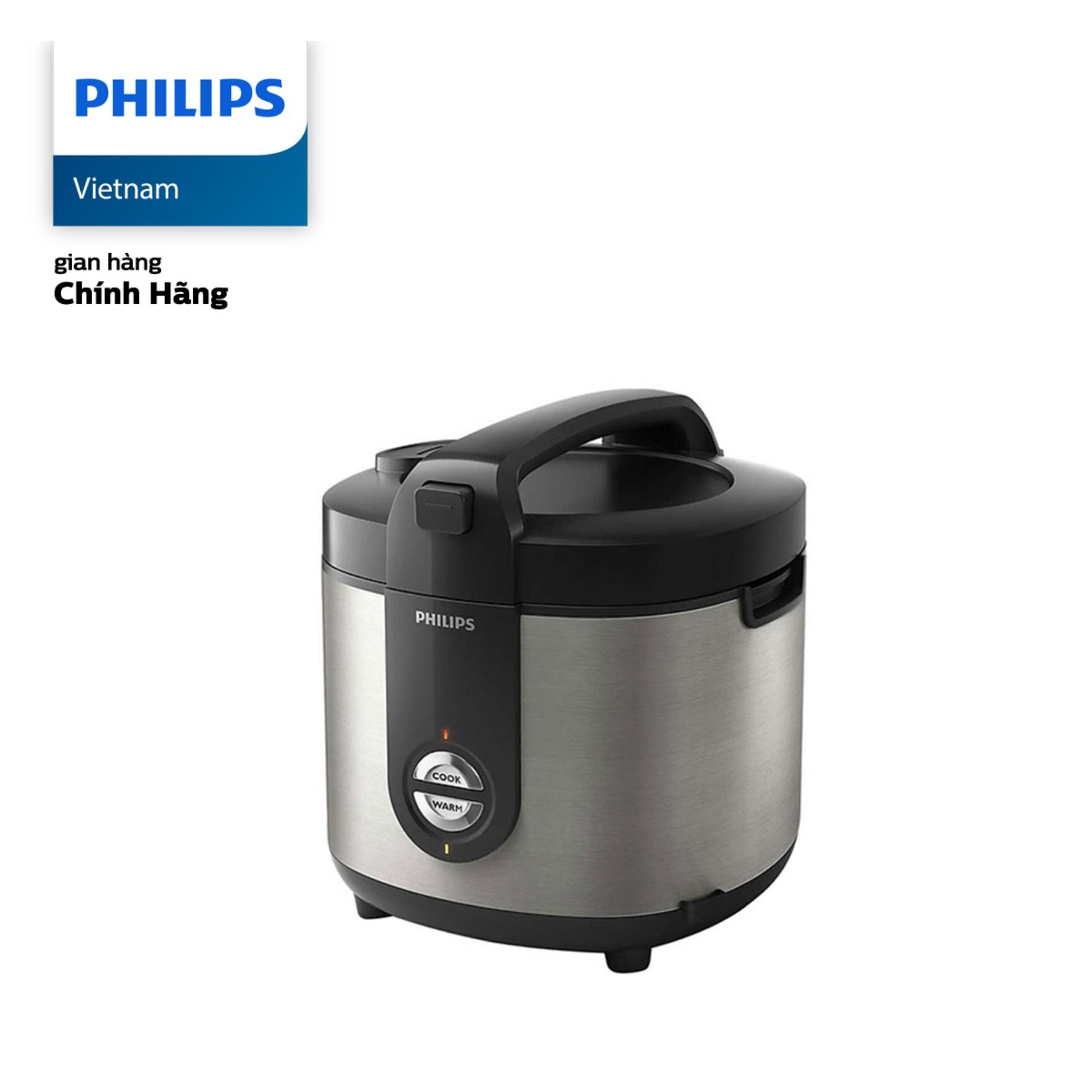 Bảng giá Nồi Cơm Điện Philips HD3132/66  (2 Lít, đen) - Hàng phân phối chính hãng - Lòng nồi 5 lớp chống dính cao cấp, hệ thống nhiệt 3D Điện máy Pico