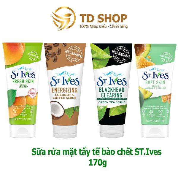 Sữa rửa mặt St.Ives 170g Trà xanh I Cafe & Dừa I Hương Mơ I Bơ&Mật  tẩy tế bào chết - TD Shop