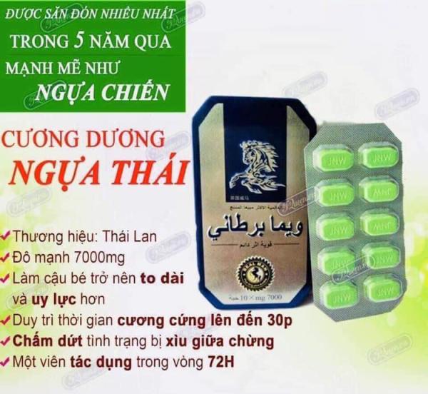 Ngua.Thái Xanh giúp hỗ trợ về các vấn đề sinh ly giới, bổ thận, cuong duong - hộp 10 viên