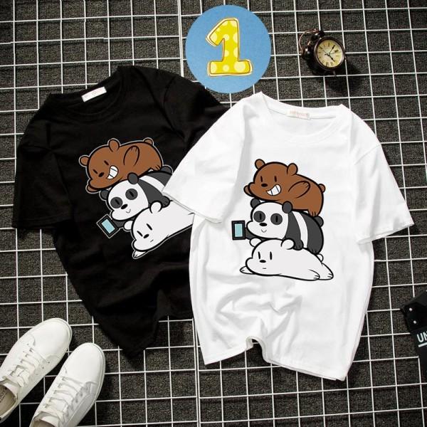 [FREE SHIP 50K] Album 8 - Bst áo thun unisex form rộng 3 con gấu dễ thương thời trang vải dày mịn