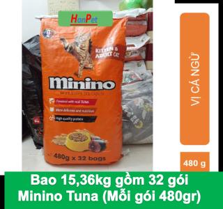 HN- (Bao Lớn 15,36kg & 7kg) Minino Thức ăn mèo loại hạt khô thức ăn cho mèo mọi lứa tuổi me-o thức ăn dành cho mọi loại mèo thumbnail