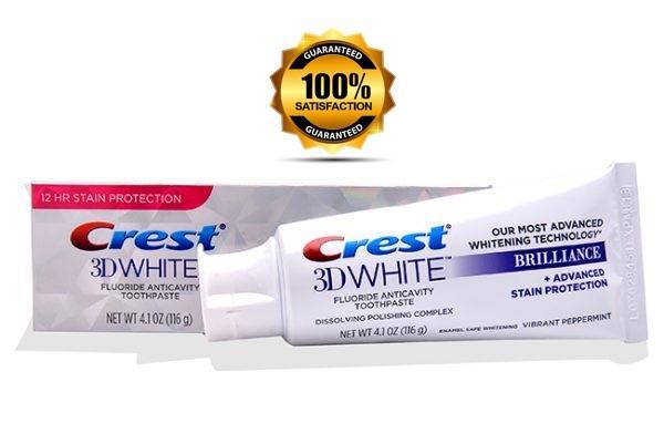 Kem đánh răng Siêu trắng Crest 3D White Brillance USA 116g - 20ml