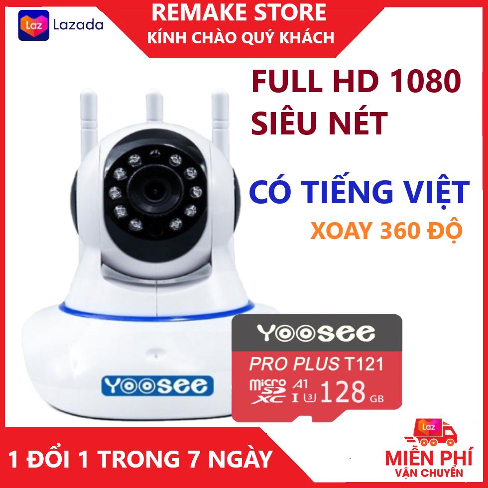Camera - Camera wifi - Camera yoosee 3 râu kèm thẻ nhớ 128gb hiển thị 2.0 mpx cảnh báo chuyển động, có tiếng việt, kết nối dễ dãng bảo hành 3 năm 1 đổi 1 trong 7 ngày