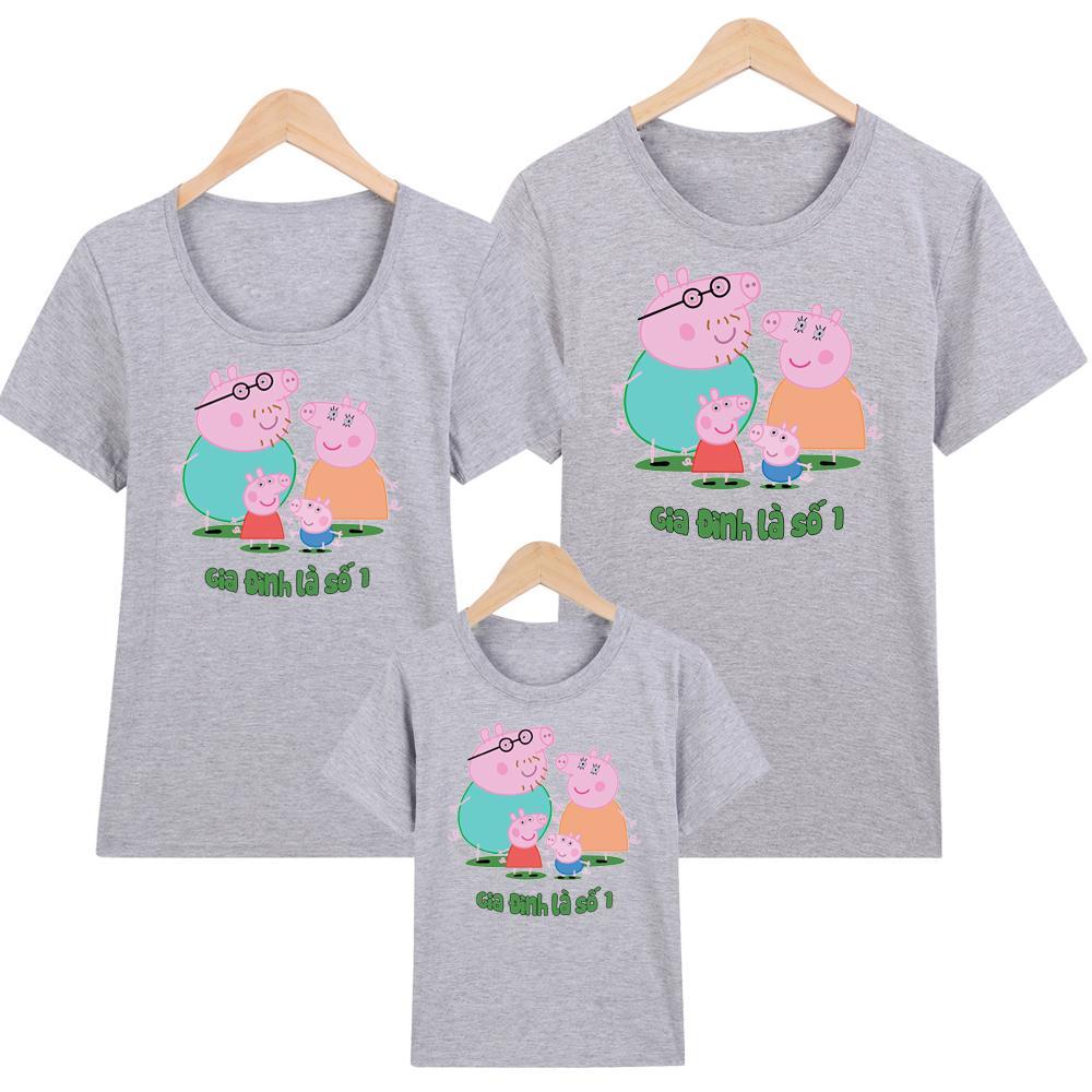 YANO áo thun nam - áo gia đình in hình peppa pig - GĐM6 - Giá Trên là giá cho 1 chiếc áo