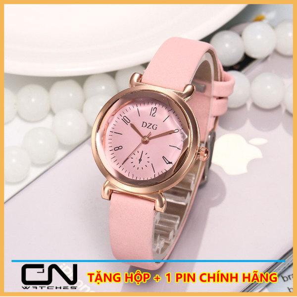 Nơi bán Đồng hồ nữ DZG dây da thời trang Hàn Quốc Kiểu dáng đơn giản