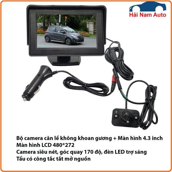 Camera cặp lề không cần khoan gương và màn hình LCD 4.3 inch.