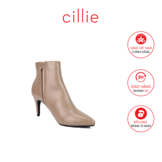 Giày boot nữ cổ thấp gót nhọn cao 8cm Cillie 1222 thumbnail