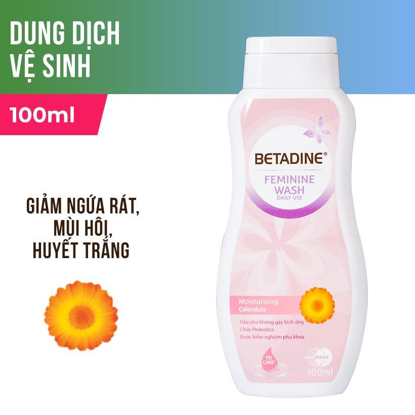 Dung dịch vệ sinh phụ nữ Betadine Moisturising - chai 100ml cao cấp