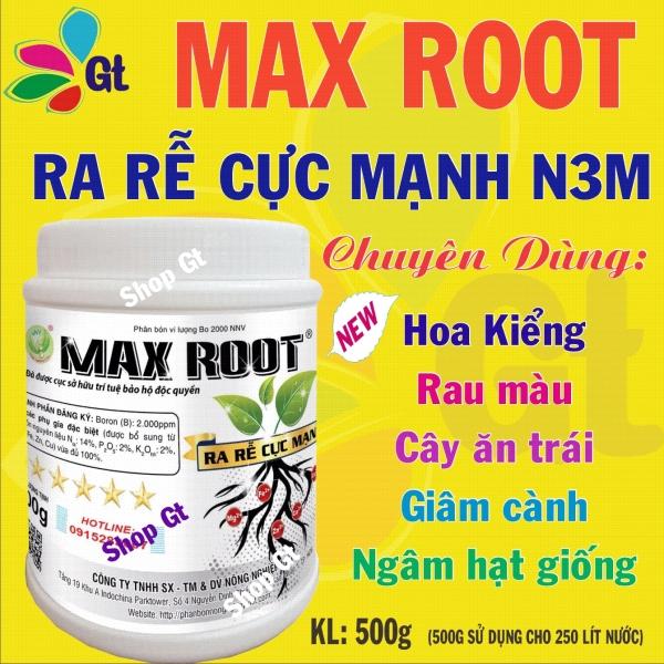 (Shop gt19) 4 hộp Max Root Ra rễ cực mạnh N3M - KL: 500g - Chuyên dùng cho hoa kiễng, rau màu, cây ăn trái, giâm cành, ngâm hạt giống.