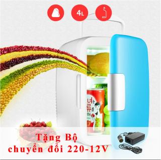 (TẶNG KÈM BỘ CHUYỂN ĐỔI NGUỒN 220-12V) Tủ lạnh mini VegaVN - 4Lít hộ gia đình và xe hơi (Nhiều màu) thumbnail