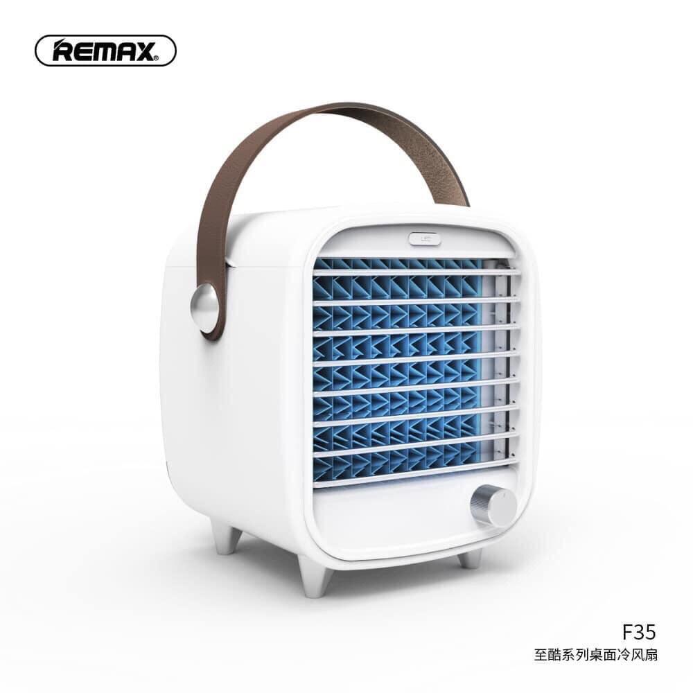 Quạt điều hoà hơi nước đá mini remax F35 Desk Fan mini hay quạt nước đá Remax F35