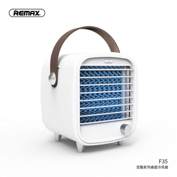 Bảng giá Quạt điều hoà hơi nước đá mini remax F35 Desk Fan mini hay quạt nước đá Remax F35