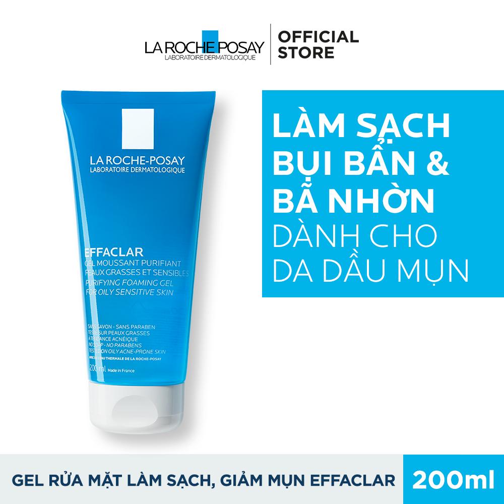 Gel Rửa Mặt Tạo Bọt Làm Sạch Dành Cho Da Dầu Nhạy Cảm La Roche-Posay Effaclar Purifying Foaming Gel For Oily Sensitive Skin 200ml Giá Ưu Đãi Không Thể Bỏ Lỡ
