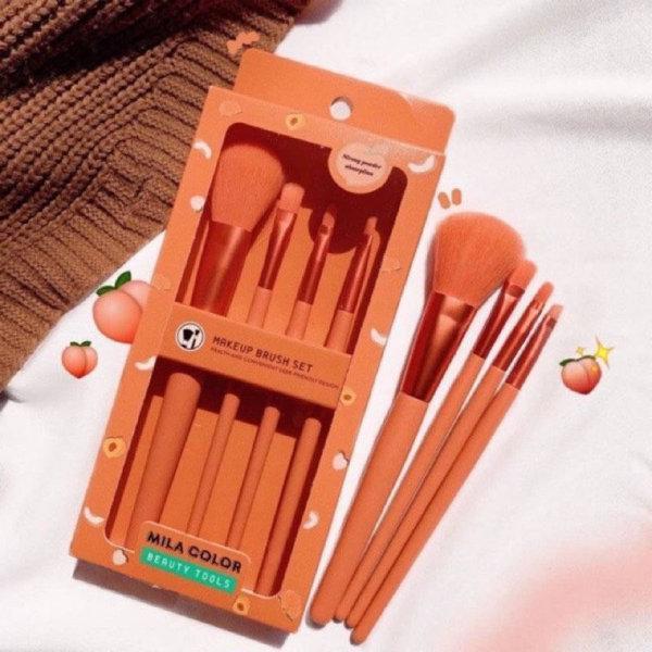 Bộ 4 Cọ Trang Điểm Tone Cam Hồng MILA COLOR Beauty Tools- Tenshi cosmetics tốt nhất