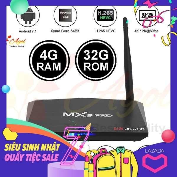 Giảm 25 %】 Android TV Box MX9 PRO 4GB RAM 32G ROM cài sẵn