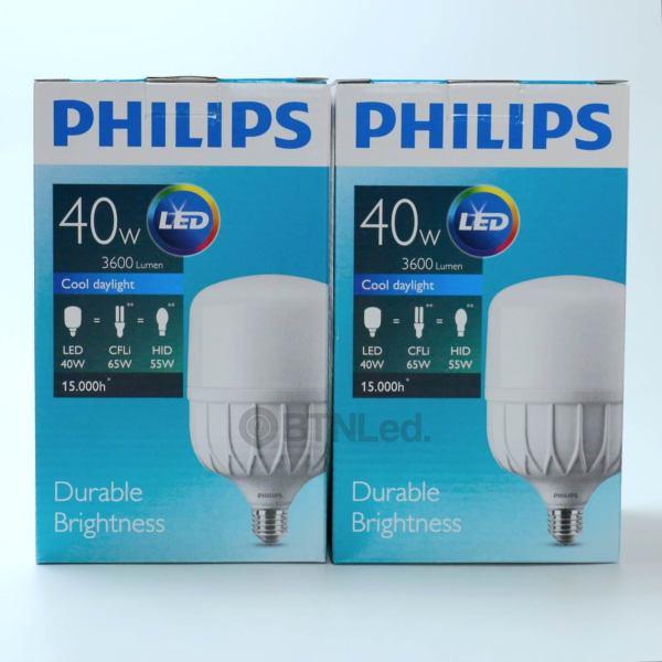 Bóng PHILIPS LED Bulb trụ 40W E27 - [HÀNG CHÍNH HÃNG] - Tiết kiệm điện, chất lượng ánh sáng cao