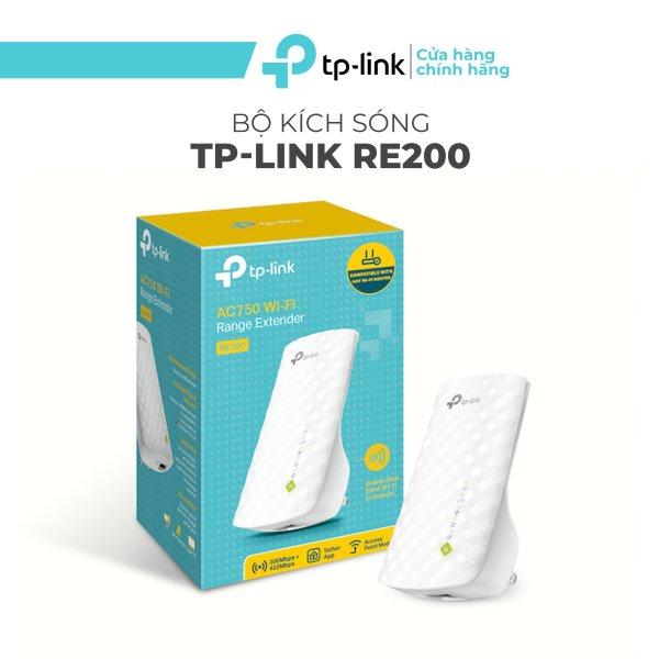 Bảng giá Bộ Mở Rộng Sóng Wifi TP-Link RE200 Chuẩn AC 750Mbps - Repeater TPLink RE200 Hai Băng Tầng Phong Vũ