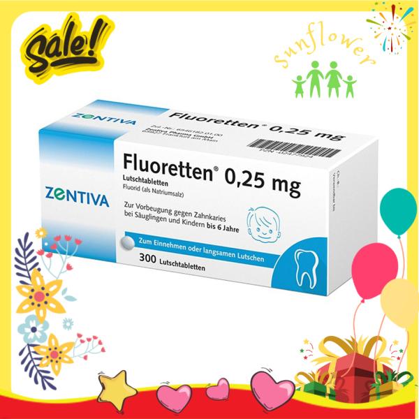 Viên ngậm chống sâu răng Fluoretten 0.25mg nội địa Đức - Shop Sunflower