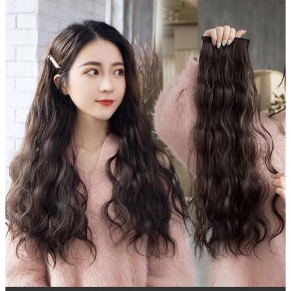 tóc giả kẹp ❤️FREESHIP❤️ combo 3 dãy kẹp xù dợn