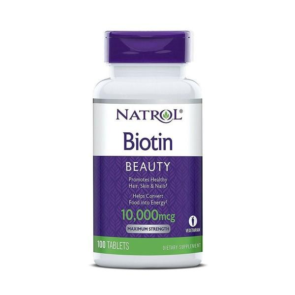 Viên Uống Mọc Tóc Natrol Biotin Beauty 10.000mcg Mỹ giá rẻ
