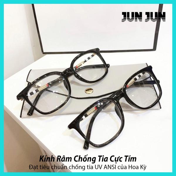 Giá bán Bảo hành 12 tháng - Mắt kính giả cận cao cấp gọng dẻo dành cho cả nam và nữ JJBBR8046 - Gọng kính cận không độ Hàn Quốc - Tặng kèm hộp + Khăn Lau