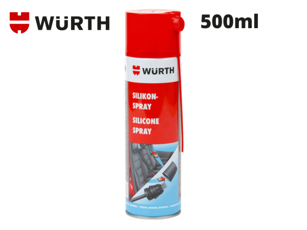 Chai xịt dầu silicone bôi trơn, phục hồi nhựa cao su bảo vệ mạch điện Wurth Silicone 0893221 500ml