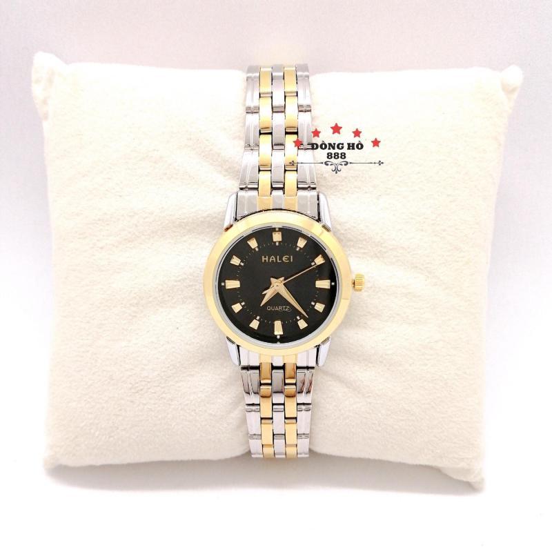 Đồng hồ Nữ Halei 502 dây thép không gỉ - TẶNG 1 vòng tỳ hưu phong thuỷ + Pin Nhật