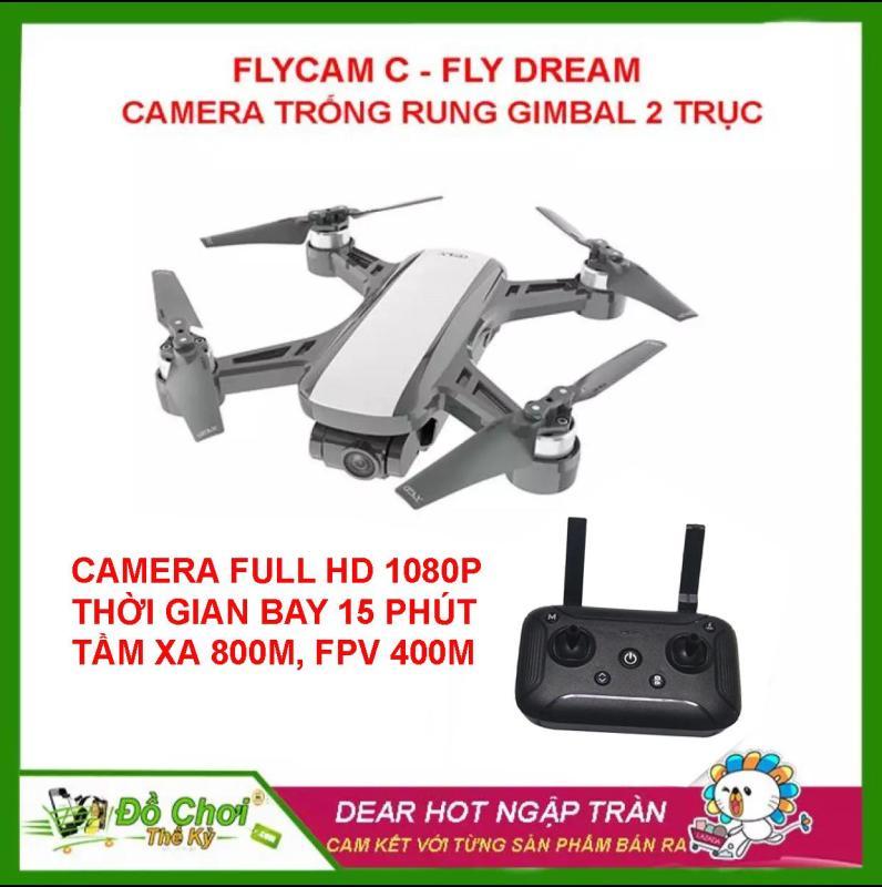 [ PHIÊN BẢN VERSION 2 ] Máy Bay Flycam C-Fly Dream Gimbal 2 trục, 1080P HD Camera, đông cơ không chổi than đối thủ của DJI Spark